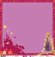 Disney Tangled Collection Rapunzel Embossed 12 x 12 Scrapbook Paper by Sandylion