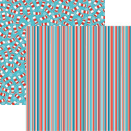 Wacky & Wild Collection Wild & Wacky Stripe 12 x 12 Double-Sided Scrapbook Paper Sheet by Reminisce