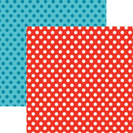 Wacky & Wild Collection Wild & Wacky Dot 12 x 12 Double-Sided Scrapbook Paper Sheet by Reminisce