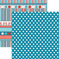Wacky & Wild Collection Wild & Wacky Blue Dot 12 x 12 Double-Sided Scrapbook Paper Sheet by Reminisce