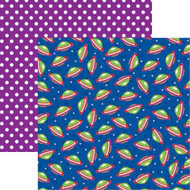 Toy Box Collection Spaceships 12 x 12 Double-Sided Scrapbook Paper by Reminisce