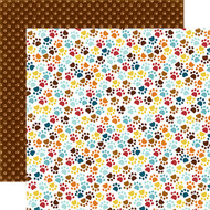 Bark Collection Paw Prints 12 x 12 Double-Sided Dog Scrapbook Paper Alisha Gordon & Echo Park Paper