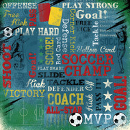 Soccer Collection Soccer Champ Collage 12 x 12 Scrapbook Paper by Karen Foster Design