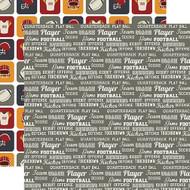 Football Collection Football Words 12 x 12 Double-Sided Scrapbook Paper by Echo Park Paper