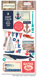 Yacht Club Collection 6 x 13 Scrapbook Chipboard Accents by Carta Bella - 26 Pieces