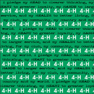 4-H Collection 4-H Pledge 12 x 12 Scrapbook Paper by It Takes Two