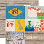 Stateside Collection Delaware 12 x 12 Double-Sided Scrapbook Paper by Echo Park Paper