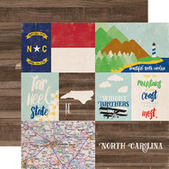 Stateside Collection North Carolina 12 x 12 Double-Sided Scrapbook Paper by Echo Park Paper