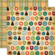 The Great Outdoors Collection Badges 12 x 12 Double-Sided Scrapbook Paper by Carta Bella
