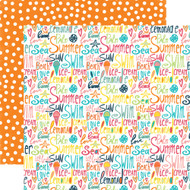 Summer Party Collection Beach Love 12 x 12 Double-Sided Scrapbook Paper by Echo Park Paper