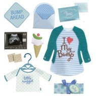 Baby Boy Pregnancy 4 x 4 Scrapbook Embellishment by Jolee's Boutique
