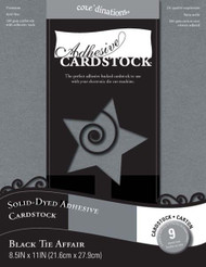 Core'dinations Collection Black Tie Affair Adhesive 8.5 x 11 Solid-Dyed Cardstock by Darice - 9 Sheets