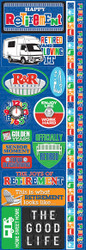 Signature Series Collection Officially Retired 4 x 12 Scrapbook Sticker Sheet by Reminisce