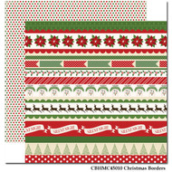 Have A Merry Christmas Collection Christmas Borders Double-Sided 12 x 12 Scrapbook Paper by Carta Bella