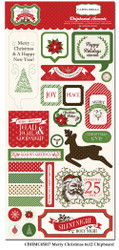 Have A Merry Christmas Collection 6 x 12 Scrapbook Chipboard Elements by Carta Bella