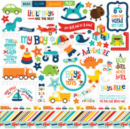 Little Man Collection 12 x 12 Scrapbook Sticker Sheet by Echo Park Papers