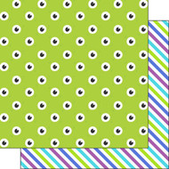 Disneyana Monsters Collection Monster Eyes 12 x 12 Double-Sided Scrapbook Paper by Scrapbook Customs
