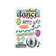 School Dance 3-D Glitter 5 x 7 Scrapbook Embellishment by Paper House Productions