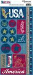 Est. 1776 Collection Freedom Icons 4.5 x 9 Cardstock Scrapbook Sticker Sheet by Reminisce