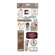 Luke 2 Collection Chipboard Stickers by Photoplay - 17 Pieces