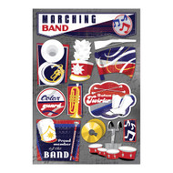Marching Band Collection The Marching Band 5.5 x 9 Cardstock Scrapbook Sticker Sheet by Karen Foster Design