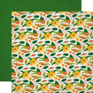 Jungle Safari Collection Wilderness Floral 12 x 12 Double-Sided Scrapbook Paper by Echo Park Paper