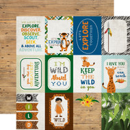 Jungle Safari Collection 3 x 4 Journaling Cards 12 x 12 Double-Sided Scrapbook Paper by Echo Park Paper