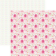 Hello Baby Collection Pink Girl Elephants 12 x 12 Double-Sided Scrapbook Paper by Paper House Productions