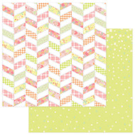 About A Little Girl Collection Wee One 12 x 12 Double-Sided Scrapbook Paper by Photoplay Paper