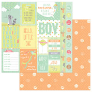 About A Little Boy Collection Peek-A-Boo 12 x 12 Double-Sided Scrapbook Paper by Photoplay Paper