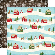 The Story of Christmas Collection Village 12 x 12 Double-Sided Scrapbook Paper by Lori Whitlock & Echo Park Paper