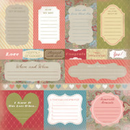 Wedding Shower Collection Engagement Journaling 12 x 12 Scrapbook Paper by Karen Foster Design