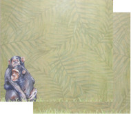 African Safari Collection Primate Safari 12 x 12 Double-Sided Scrapbook Paper by Scrapbook Customs