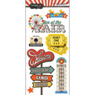 Fair Collection Fun At The Fair 6 x 12 Scrapbook Sticker Sheet by Scrapbook Customs