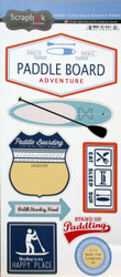 Paddle Board Collection Paddle Board Adventure 6 x 12 Scrapbook Sticker by Scrapbook Customs