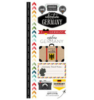 Travel Adventure Collection Germany Adventure 6 x 12 Scrapbook Sticker Sheet by Scrapbook Customs