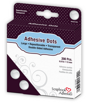 Repositionable, Transparent, 13mm Large Adhesive Dots by Scrapbook Adhesives - Pkg. of 200