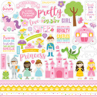 Perfect Princess Collection 12 x 12 Cardstock Sticker Sheet by Echo Park Paper