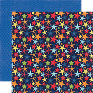Under The Sea Collection Happy Starfish 12 x 12 Double-Sided Scrapbook Paper by Echo Park Paper