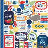 Under The Sea Collection Element 12 x 12 Scrapbook Sticker by Echo Park Paper