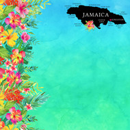 Getaway Collection Jamaica 12 x 12 Double-Sided Scrapbook Paper by Scrapbook Customs