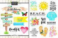 Getaway Collection St. Kitts 6 x 8 Double-Sided Scrapbook Sticker Sheet by Scrapbook Customs