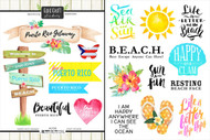 Getaway Collection Puerto Rico 6 x 8 Double-Sided Scrapbook Sticker Sheet by Scrapbook Customs