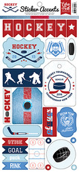 Hockey Collection 6 x 12 Scrapbook Sticker Sheet by Echo Park Paper