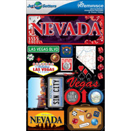 Jet Setter 2 Collection Nevada 5 x 7 Scrapbook Embellishment by Reminisce