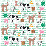 4-H Collection Animals & Words 12 x 12 Scrapbook Paper by It Takes Two