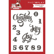 Mad 4 Plaid Christmas Collection Christmas Words Etched Dies by Photo Play - 13 designs