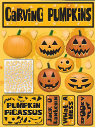 Signature Series Collection  Carving Pumpkins 5 x 6 Scrapbook Embellishment by Reminisce