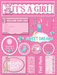 Signature Series Collection  It's A Girl 5 x 6 Scrapbook Embellishment by Reminisce