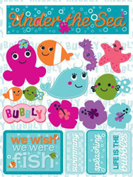 Signature Series Collection  Under The Sea 5 x 6 Scrapbook Embellishment by Reminisce